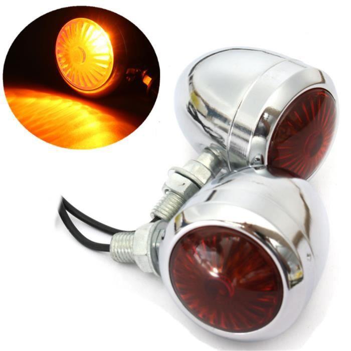 U 4pcs Feux Signal Indicateur Clignotant Ampoule Pour Harley Davidson Cafe Racer Cdiscount Auto