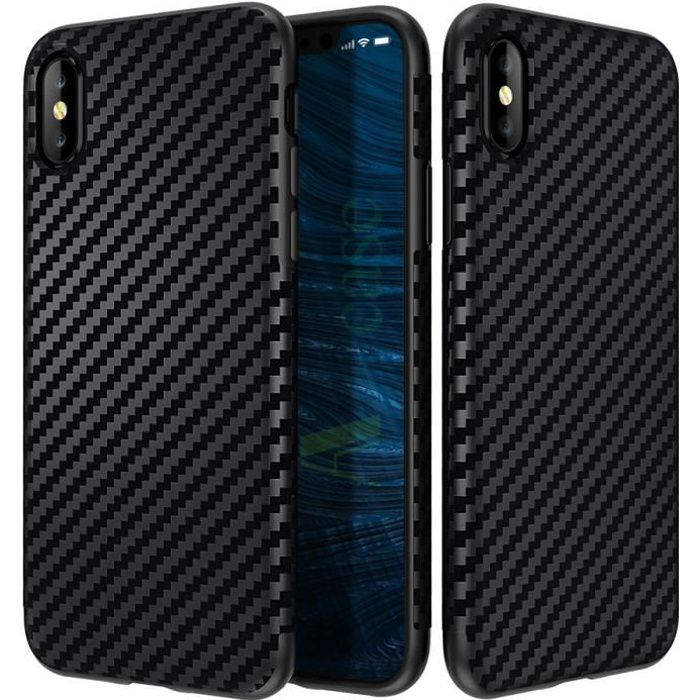 coque iphone xs en carbone