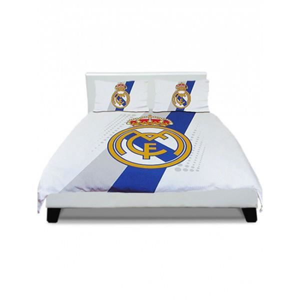 housse de couette real de madrid 2 places achat vente housse de couette cdiscount. Black Bedroom Furniture Sets. Home Design Ideas