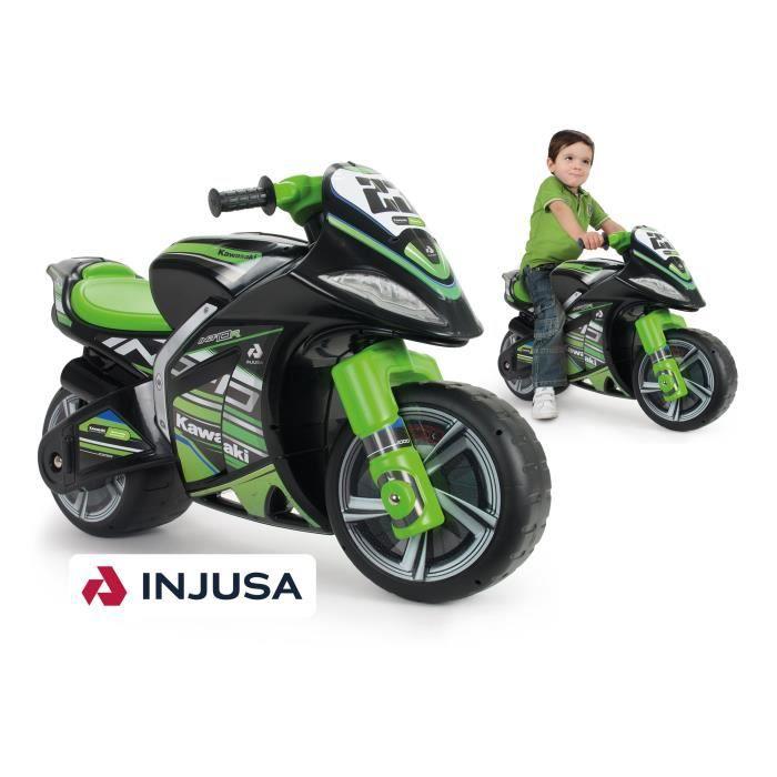 PORTEUR - POUSSEUR INJUSA Porteur moto enfant noir et vert  Foot To F