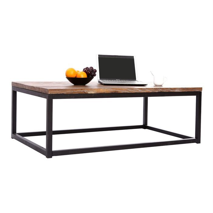 Table Basse Industrielle Bois M Tal Factory Achat Vente Table Basse Table Basse Factory