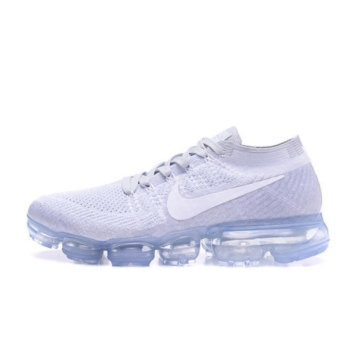 Nike Air VaporMax Flyknit Chaussure pour Homme Femme Blanc