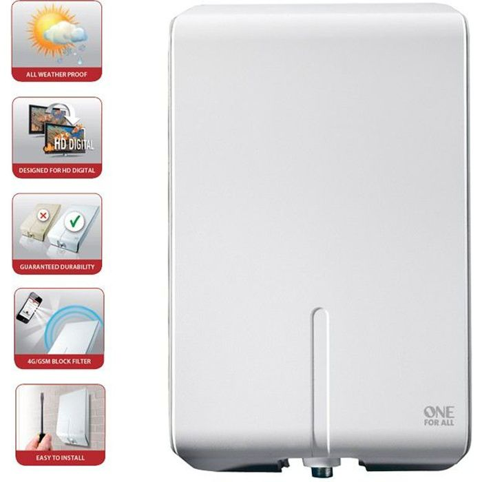 one for all sv 9455 3d full hd dvb t dab 52 db water proof