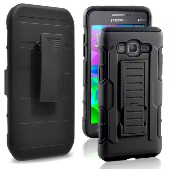 tutuwen pour samsung galaxy j3 2016 j3 coque 3 en 1 hybride armor tui avec clip ceinture. Black Bedroom Furniture Sets. Home Design Ideas