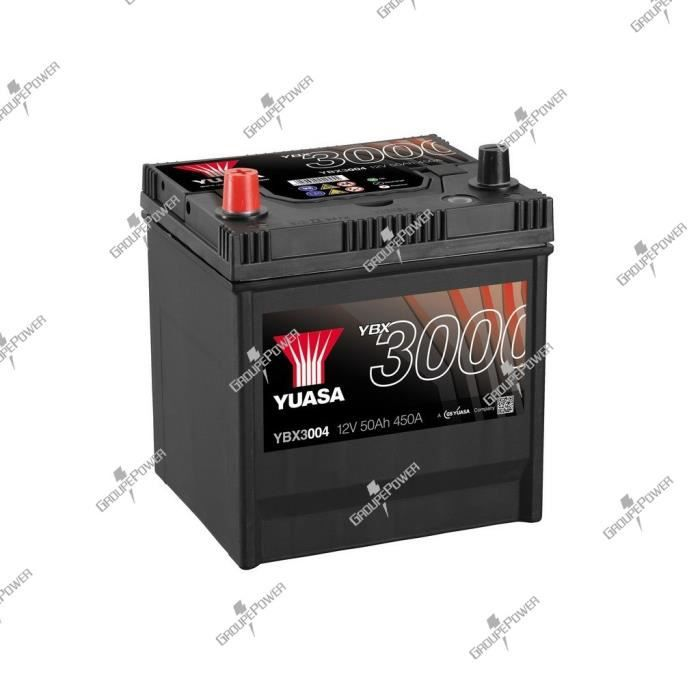 batterie auto voiture ybx3004 12v 50ah 450a yuasa smf battery achat vente batterie v hicule. Black Bedroom Furniture Sets. Home Design Ideas