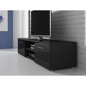 meuble tv noir mat achat vente meuble tv noir mat pas. Black Bedroom Furniture Sets. Home Design Ideas