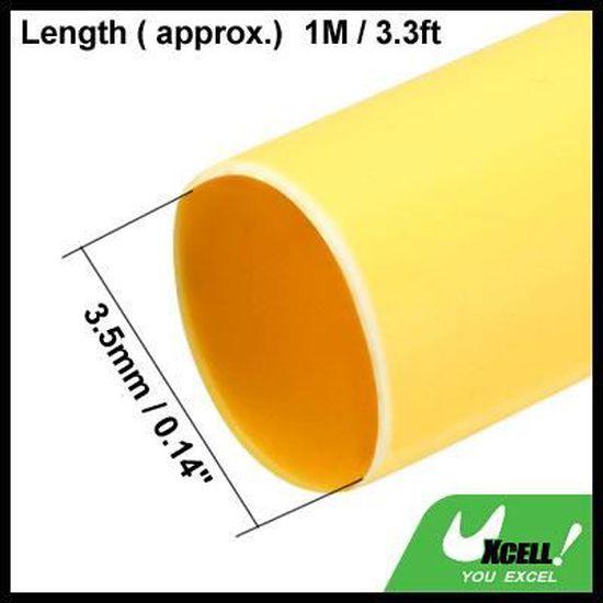 Sourcingmap Gaine thermor/étractable 2:1 pour isolation /électrique Noir 15 mm x 5 m