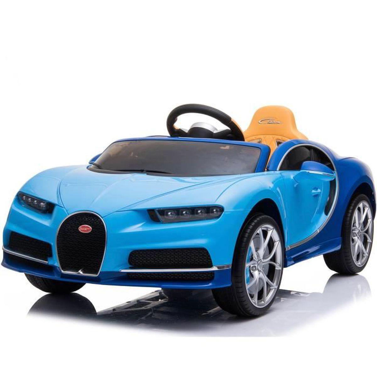 VOITURE ELECTRIQUE ENFANT Bugatti Chiron, Bleu, Licence originale, À piles,