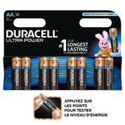 PILES DURACELL Piles Ultra Power AA X8