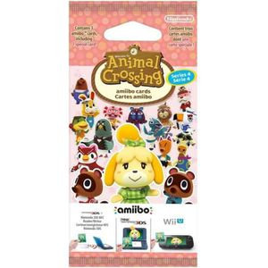 Paquet de 3 cartes  Animal Crossing Série 4
