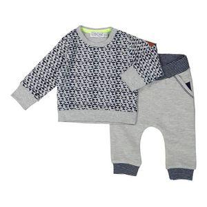 Ensemble de vêtements DIRKJE Ensemble Sweater AOP Gris et Bleu Marine Bé