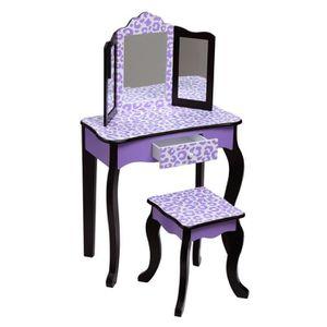 COIFFEUSE Meuble coiffeuse table de maquillage bois pour enf