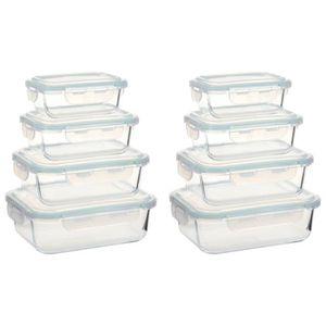 BOITES DE CONSERVATION ETO Lot de 8 Boîtes Alimentaires Boîte à Déjeuner