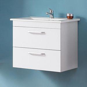 SALLE DE BAIN COMPLETE Meuble sous-vasque 60cm, deux tiroirs, meuble susp