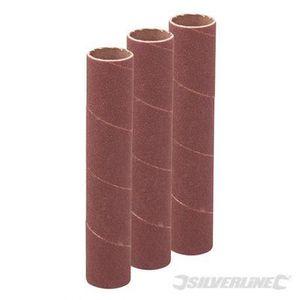 Silverline 273376 Ensemble de 3 Manchons de pon/çage 90 x 51 mm Grain 120