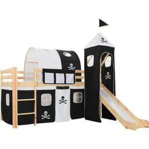 LIT MEZZANINE 282711 Lit mezzanine d'enfants avec toboggan et éc