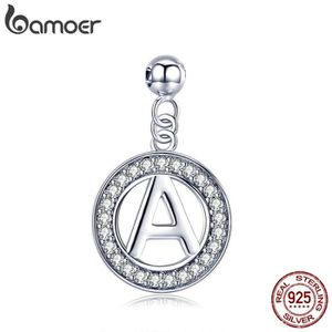 Charm's BAMOER Charms Lettre-A  Vision 925 Argent Empilabl