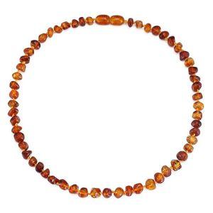 COLLIER AMBRE collier bébé d ambre(Cognac)(33cm) - Forfait simpl