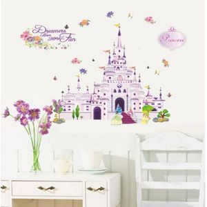 stickers muraux enfant chateau achat vente stickers muraux enfant chateau pas cher cdiscount. Black Bedroom Furniture Sets. Home Design Ideas