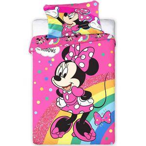 HOUSSE DE COUETTE ET TAIES Disney Minnie Parure de couette bébé 100 × 135 cm,