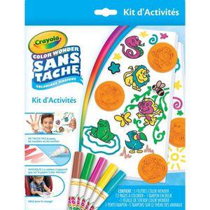 JEU DE COLORIAGE - DESSIN - POCHOIR Crayola - Kit d'Activités Color Wonder - Coloriage