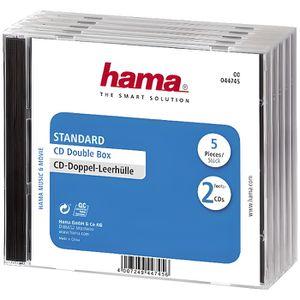 RANGEMENT CD-DVD HAMA 44745 Lot de 5 Boitiers CD Standard double -