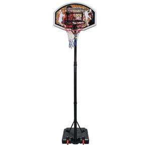 COSTWAY Panier de Basket sur Pied avec Un Poteau Ajustable et Un Panneau Arri/ère pour Ext/érieur ou Int/érieur