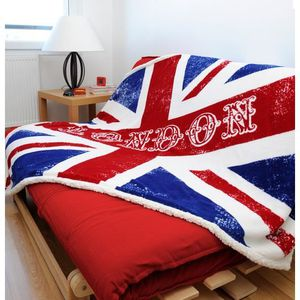 plaid drapeau achat vente plaid drapeau pas cher. Black Bedroom Furniture Sets. Home Design Ideas