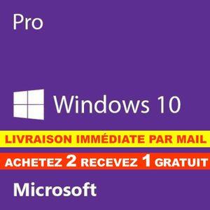 SYST EXPLOIT À TÉLÉCHARGER Windows 10 Pro Professionnel 32/64 bit Clé d'activ