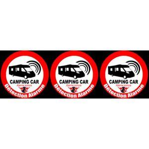 Caravane Roulotte Système d/'alarme Autocollant 2x Avertissement GPS Traceur