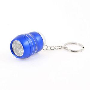 LAMPE DE POCHE Blanc-Bleu Clair Coque en alliage 6 LED Mini Lampe