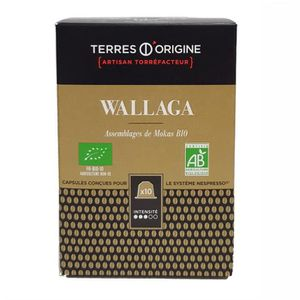 CAFÉ Capsules café Wallaga BIO intensité 3-5 - Terres d