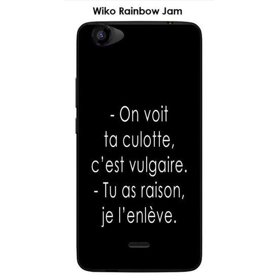 Coque Wiko Rainbow Jam design Citation