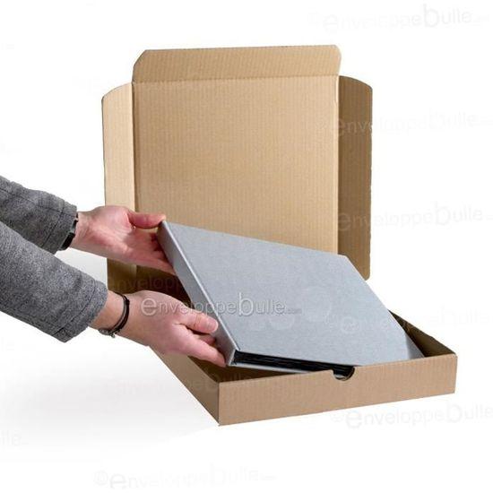 Lot de 10 Bo/îtes postales extra-plates format 305x220x45 mm