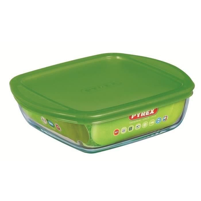 PYREX Plat à four + couvercle Cook and Store Basic 14x12 cm transparent
