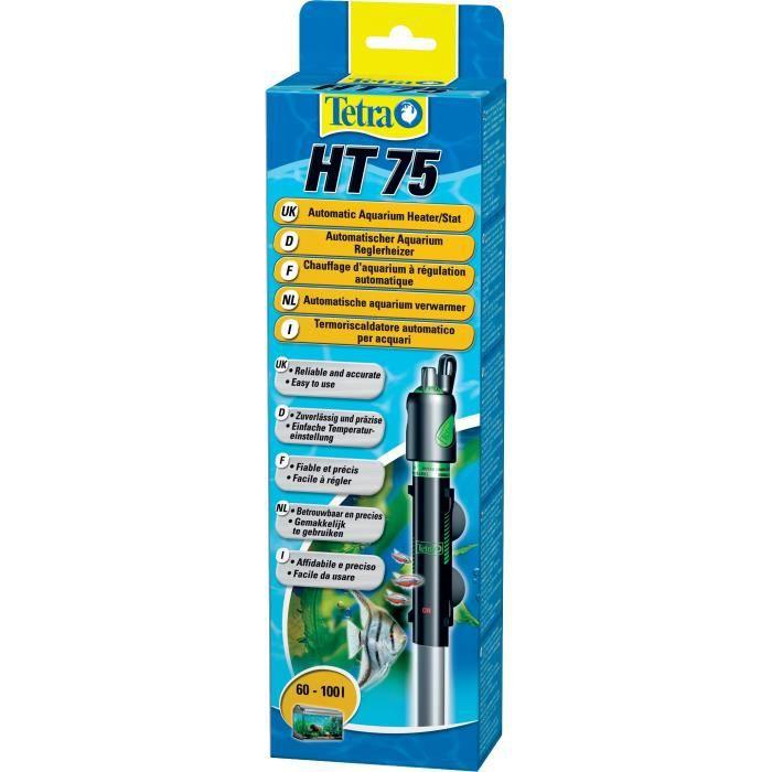 TETRA Chauffage totalement submersible - Pour aquarium Tetra HT75 - 75 W