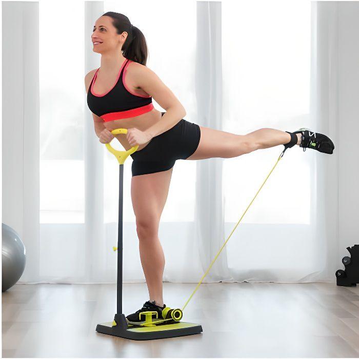 Plateforme de musculation fitness pour fessiers jambes et bras avec guide d'exercices sport 404