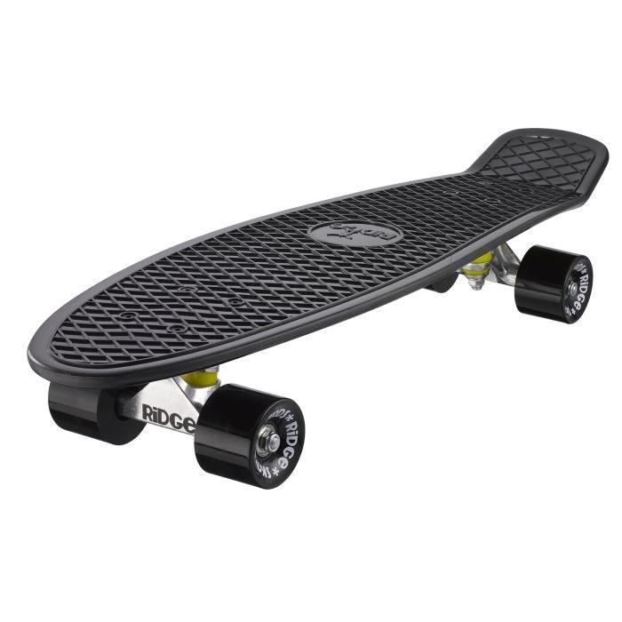 Grand 69cm Big Brother Ridge Skateboards Complète Planche a Roulettes Nickel NOIR- NOIR