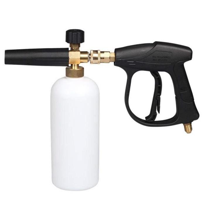 Pistolet à mousse pour lave-auto lave-auto-jet Lavage à haute pression pour jet de mousse à libération rapide Réglable pour la neige