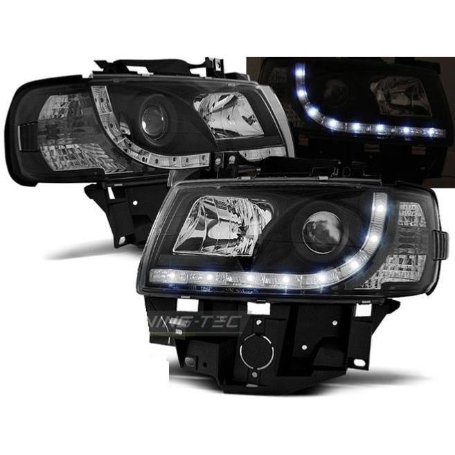 Paire de feux phares VW T4 bus 96-03 Daylight led noir-27362065