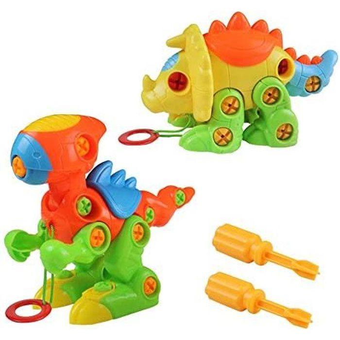 dinosaures enfant jouet de construction puzzle jeu à assemblage et démontage pour garcon fille 3 4 5 6 ans