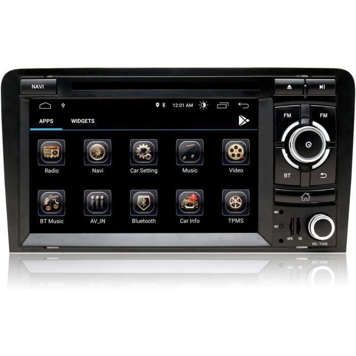 7 Pouces An oid 10 Autoradio Double Din Stereo pour Audi A3 8P S3 RS3 2003-2012 avec Ecran Tactile HD CD DVD Navigation GPS Blue265