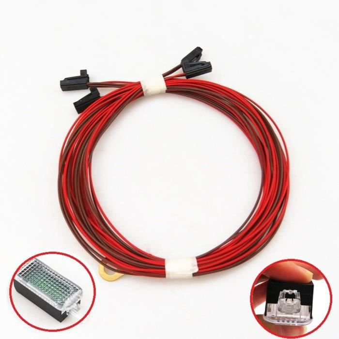 Câble de lumière de pied Auto, prise de fil, pour Golf 5 MK5 6 MK6 Passat B6 B7 SEAT To Leon Ibiza A3 A4 A5 A6 A8 Q3 Q5 [748630B]