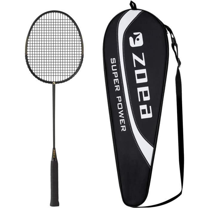 Raquette de Badminton Professionnelle à Haute Tension 100% Fibre de Carbone pour Raquette de Badminton en Graphite