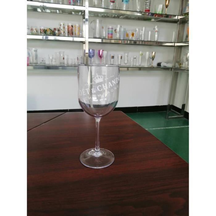 2 pièces Coupes de Champagne Cocktail verre seau à glace Chandon vin bière Partyfor 3L acrylique blanc seaux à glace ref*DE1446