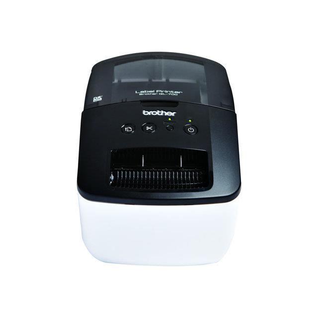 Brother QL-700 Imprimante d'étiquettes papier thermique Rouleau (6,1 cm) 300 x 600 ppp jusqu'à 93 étiquettes-minute USB