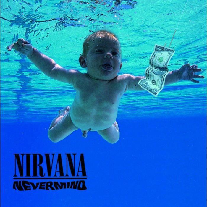 Poster Affiche Nirvana Kurt Cobain Rock Grunge Album Cover Nevermind 31cm x 31cm