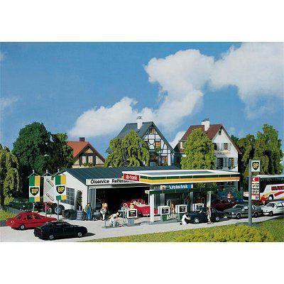 Modélisme - Station-service + bâtiment de service