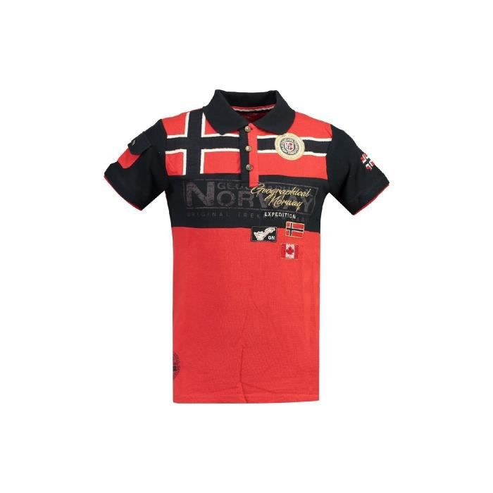 Polo Homme Geographical Norway Klipo Rouge