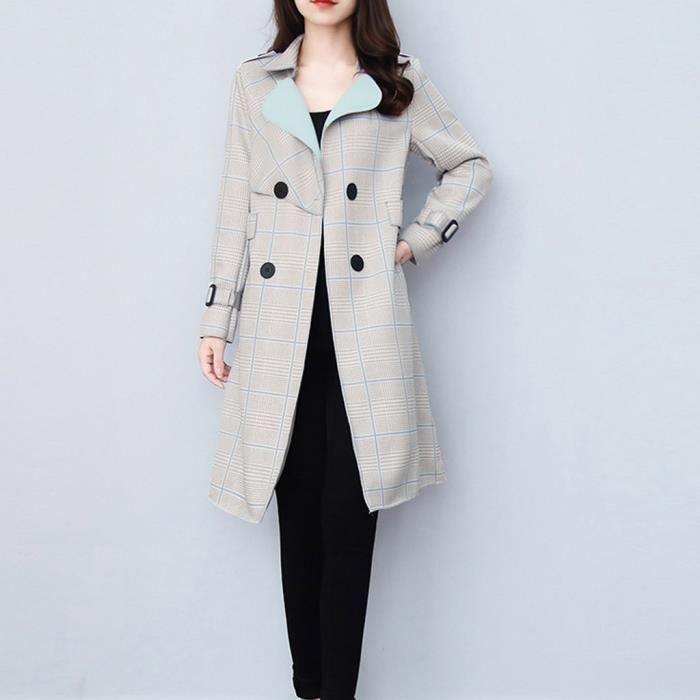 Femme moyen long trench manteau tempérament manteau pop manteau